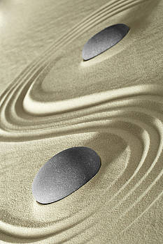 Japanese zen garden stones - meditation by Dirk Ercken