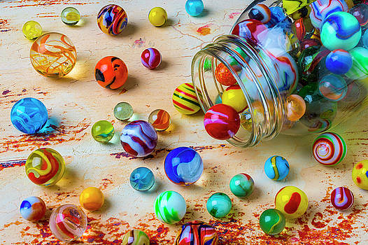 Jar Of Childhood Marbles by Garry Gay