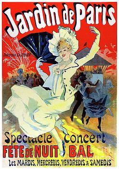 Jardin de Paris France Vintage Poster Restored by Carsten Reisinger
