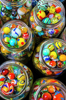 Jars Full Of Pretty Marbles by Garry Gay