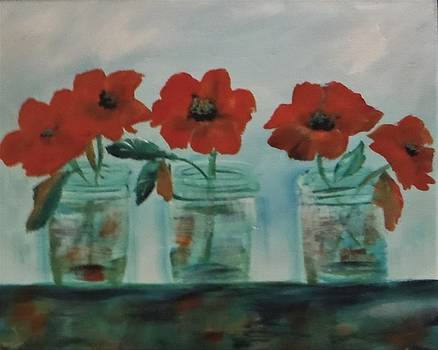 Jars of Flowers by Jacqueline Whitcomb