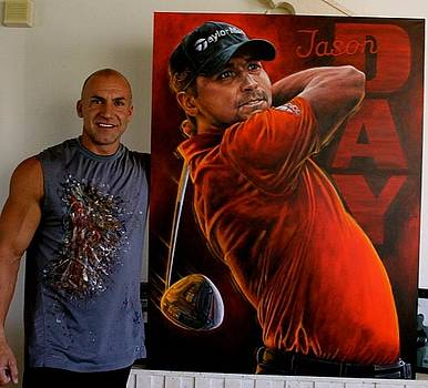 Jason Day CANVAS PRINTS AVAILABLE  by Sports Art World Wide John Prince