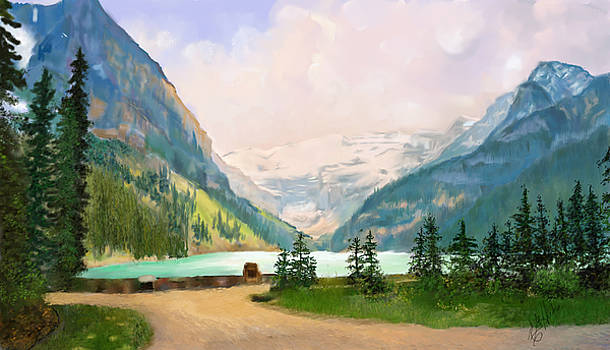 Jasper National Park Glacier Lake by Edith Hicks