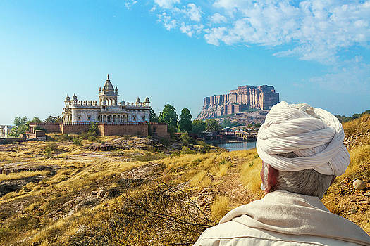 Jaswant Thada and Mehrangarh Fort in Rajasthan by Nila Newsom
