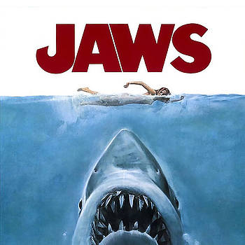 Jaws poster by Vitor Costa
