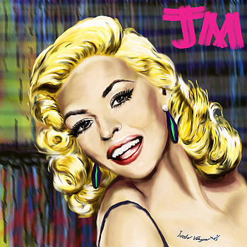 Jayne Mansfield digital art portrait by Ivelin Vlaykov