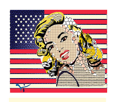 Jayne Mansfield Pop Art  by Ivelin Vlaykov