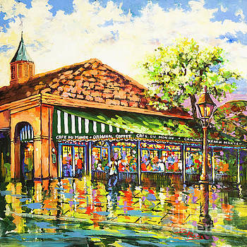 Jazz at Cafe du Monde by Dianne Parks