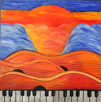 Jazz at Sunset by Victoria  Johns