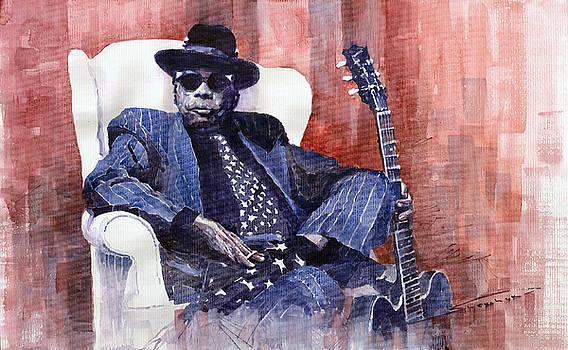Jazz Bluesman John Lee Hooker 02 by Yuriy  Shevchuk