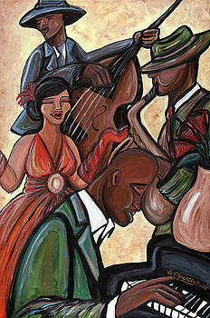 Jazz Quartet by Tiffany Yancey