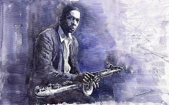 Jazz Saxophonist John Coltrane 03 by Yuriy  Shevchuk