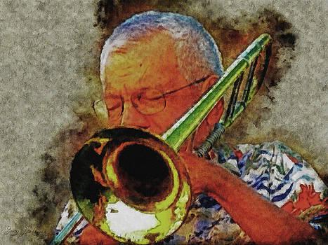 Jazz Trombone Player by Gary De Capua