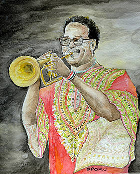Jazz Trumpeter by Opoku Acheampong