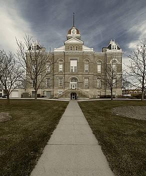 Jefferson County Courthouse in Fairbury Nebraska Rural by Art Whitton