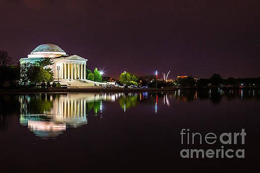 Jefferson Memorial at Night by Jim DeLillo