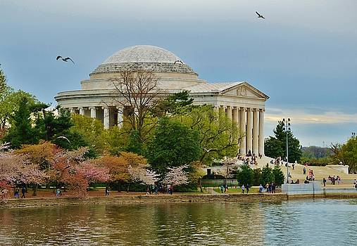 Jefferson Memorial Springtime by William Bartholomew