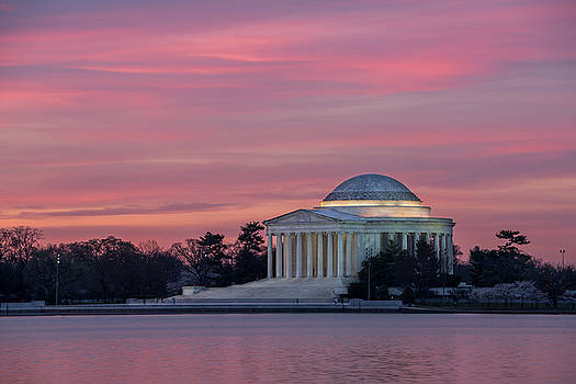 Jefferson Memorial Sunrise by Michael Donahue