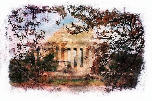 Jefferson Memorial Watercolor 1 by Scott Fracasso
