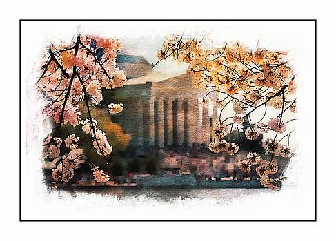 Jefferson Memorial Watercolor 2 by Scott Fracasso