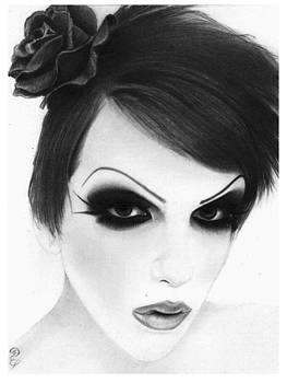 Jeffree Star no2 Original Pencil Drawing by Debbie Engel