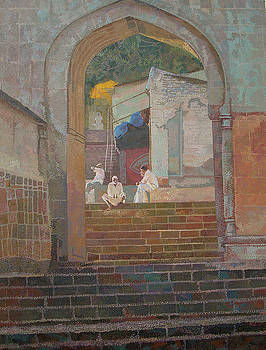 Jejuri Pointillism by Sangeeta Takalkar