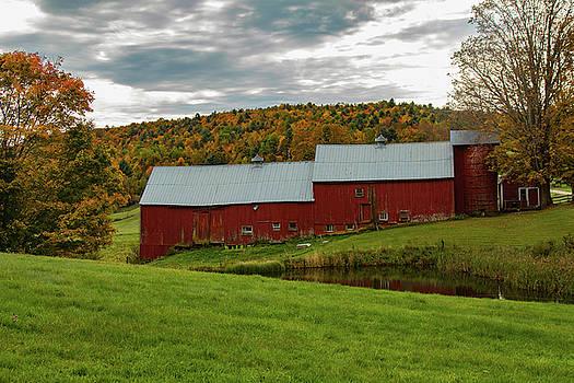 Jenne Farm barns in Autumn by Jeff Folger