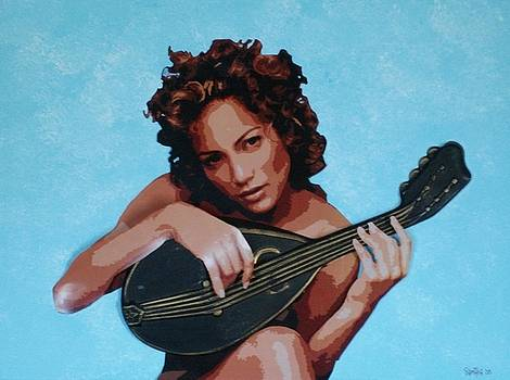 Jennifer with Mandolin by Samitha Hess