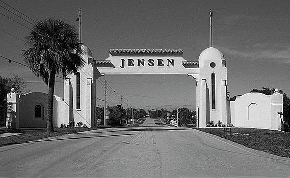 Jensen 1926 Welcome Arch by Richard Nickson