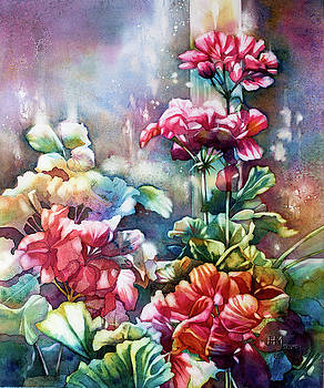 Jerry's Hothouse Geraniums by Judith Hallbeck Meyeraan