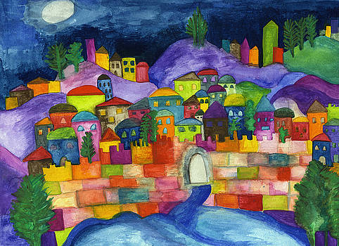 Jerusalem Scene by Dora Ficher