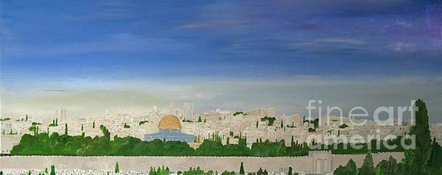 Jerusalem Skyline by Karen Jane Jones