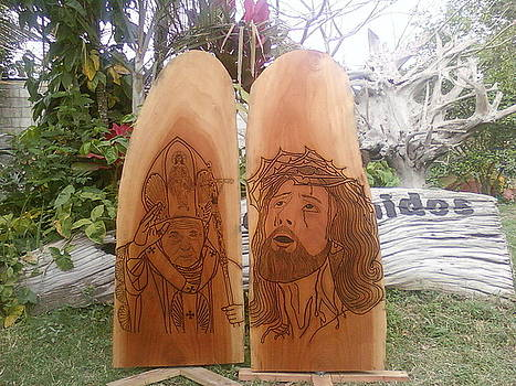 Jesucristo y Juan Pablo II by Calixto Gonzalez