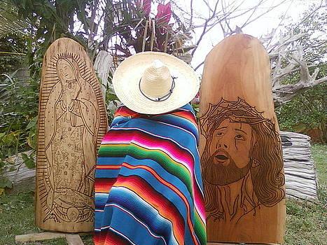 Jesucristo y Virgencita de Guadalupe by Calixto Gonzalez