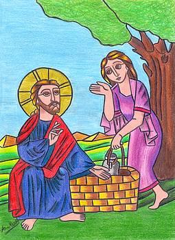 Jesus and the samaritan woman by Eman Allam