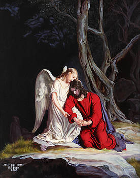 Jesus at Gethsemane by Rebecca Poole
