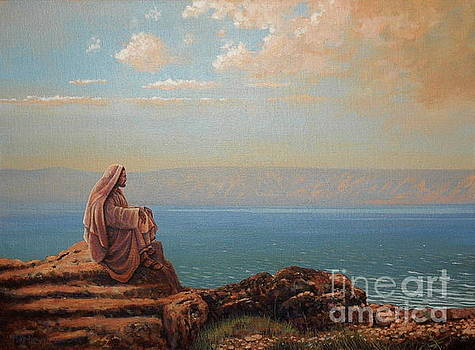 Jesus by the sea by Michael Nowak