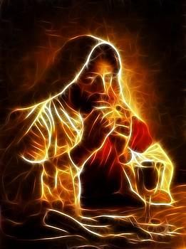 Jesus Christ Last Supper by Pamela Johnson
