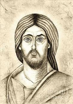 Jesus Christ Pantokrator by Joanna Cieslinska