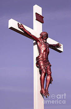 Jesus Crucifix Against The Sky 2 by Gary Whitton