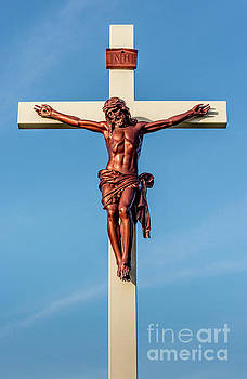 Jesus Crucifix against the Sky 3 by Gary Whitton