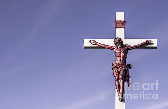 Jesus Crucifix against the Sky by Gary Whitton