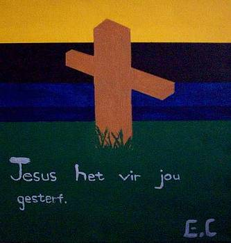 Jesus death by Eloudi Coetzer