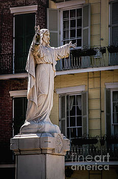 Jesus in the Garden - New Orleans by Kathleen K Parker
