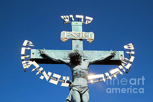 Jesus on the cross  by Jacky Telem