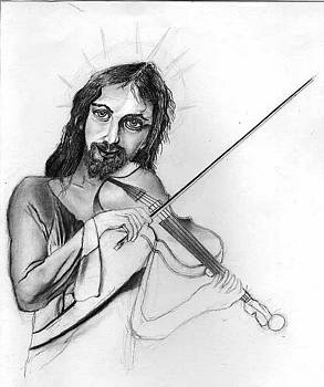 Jesus Playing the Violin by Bucko Productions Photography