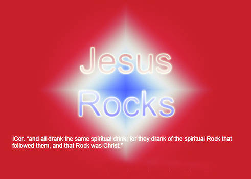 Jesus Rocks by David Simons