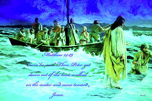 Jesus Walked on Sea of Galilee by Dennis Baswell