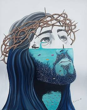 Jesus Walks on the Water by Edwin Alverio
