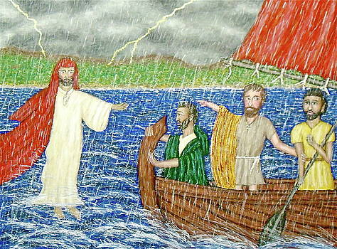 Jesus Walks on Water by Stephen Warde Anderson